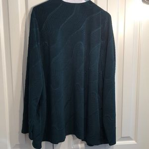 Chico's Sweaters - Forest green Chicos size 4 jacket with pockets EUC